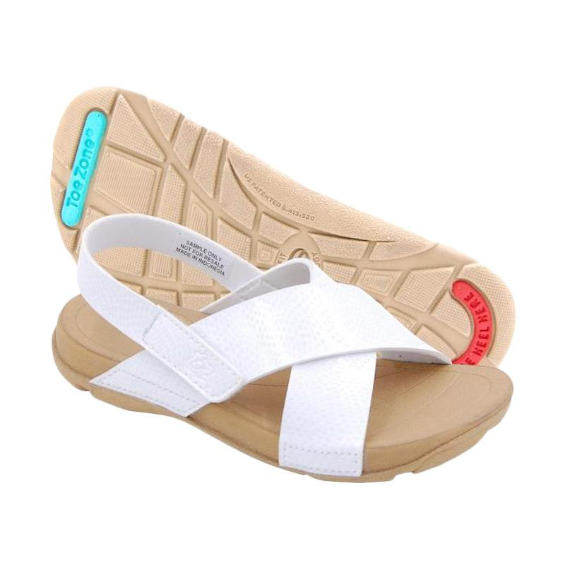 ToeZone Kids Gili Ch Dk Tan Sepatu Sandal Anak Perempuan - White