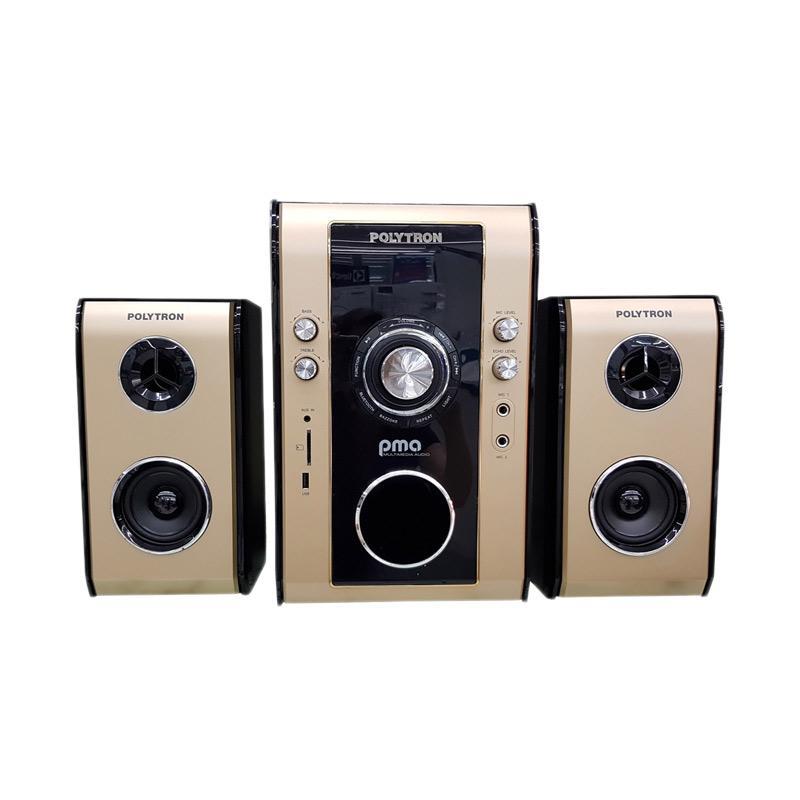 harga POLYTRON PMA9503 Multimedia Audio Speaker Aktif - Gold Blibli.com