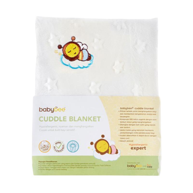 Babybee Cuddle Blanket - Print Ivory