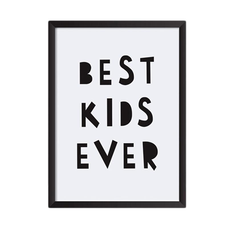 Cadrehome Best Kids Ever A4 Dekorasi Dinding