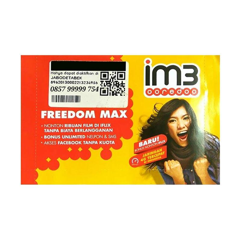 Indosat IM3 Panca Nomor Cantik 0857 99999 754 Kartu Perdana [Chip 4G LTE]