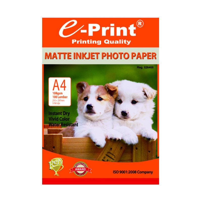 E-Print Inkjet Photo Paper [A4/ 108 gsm/ 100 Sheets]