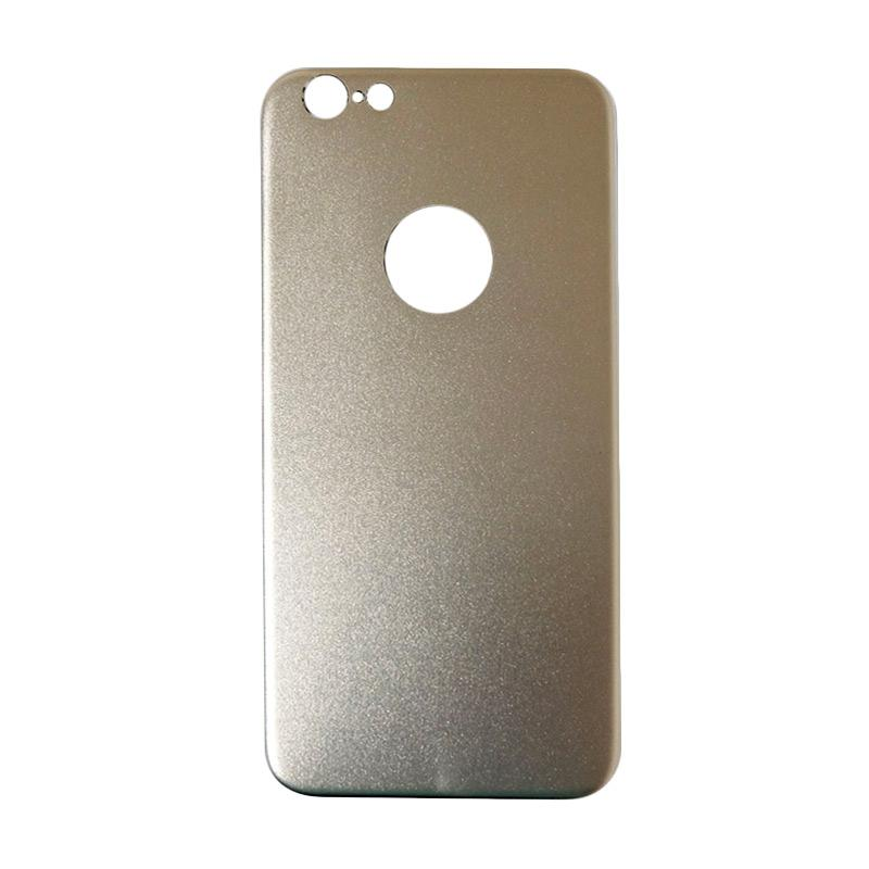 QCF Tempered Glass Aluminium Alloy Back Protector (Belakang Saja) for iPhone 6 / iPhone6 / Iphone 6G / 6S Ukuran 4.7 Inch Pelindung Belakang - Gold