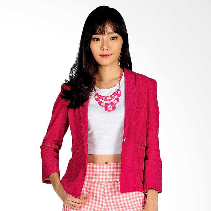 SJO & SIMPAPLY Selina Women's Outerwear Blazer - Pink