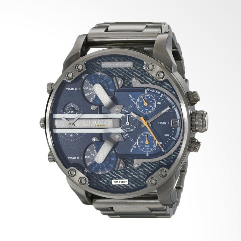 Diesel Men's Business Mechanical Watch Jam Tangan Pria - Silver