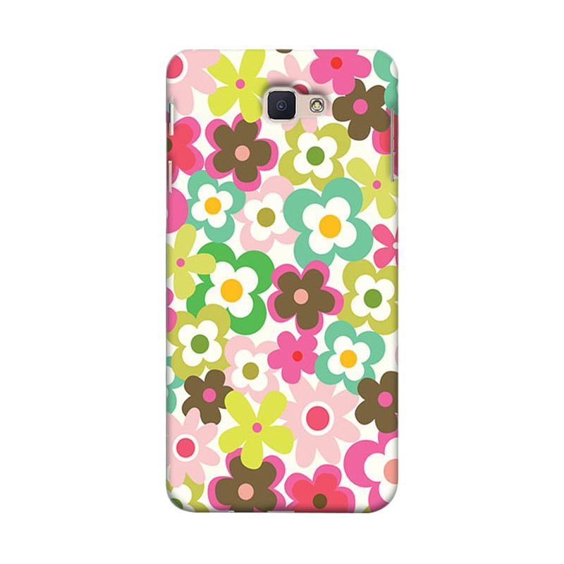 Premiumcaseid Cute Colorful Flower Hardcase Casing for Samsung Galaxy J7 Prime - Multicolor