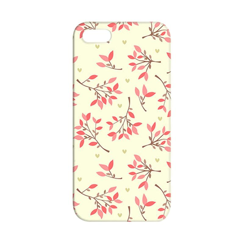 Premiumcaseid Cute Floral Seamless Shabby Hardcase Casing for iPhone 5 or iPhone 5s