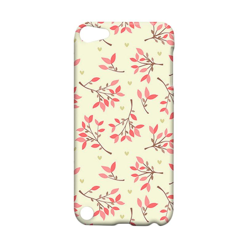 Premiumcaseid Cute Floral Seamless Shabby Hardcase Casing for iPod 5