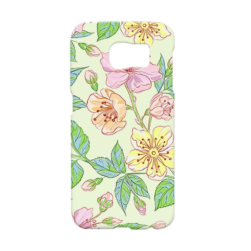 Premiumcaseid Beautiful Flower Wallpaper Hardcase Casing for Samsung Galaxy S6