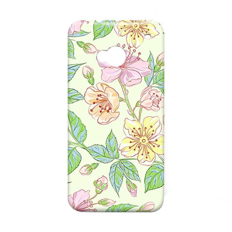 Premiumcaseid Beautiful Flower Wallpaper Hardcase Casing for HTC One M7