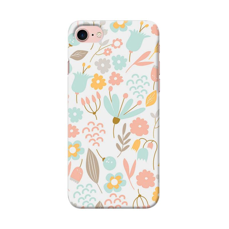 Premiumcaseid Cute Pastel Shabby Chic Floral Cover Hardcase Casing for iPhone 7