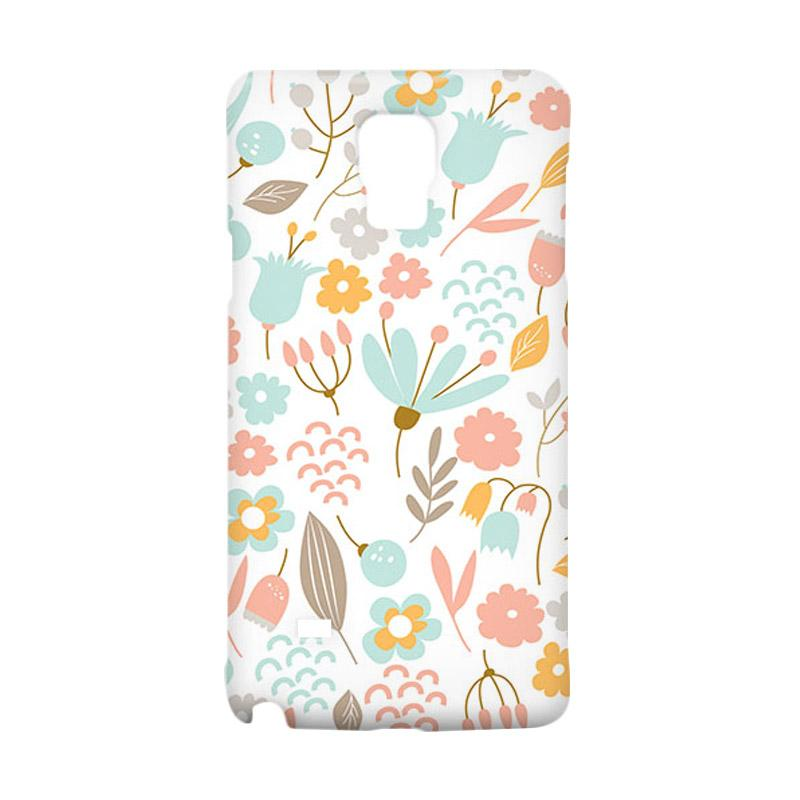 Premiumcaseid Cute Pastel Shabby Chic Floral Hardcase Casing for Samsung Galaxy Note 4