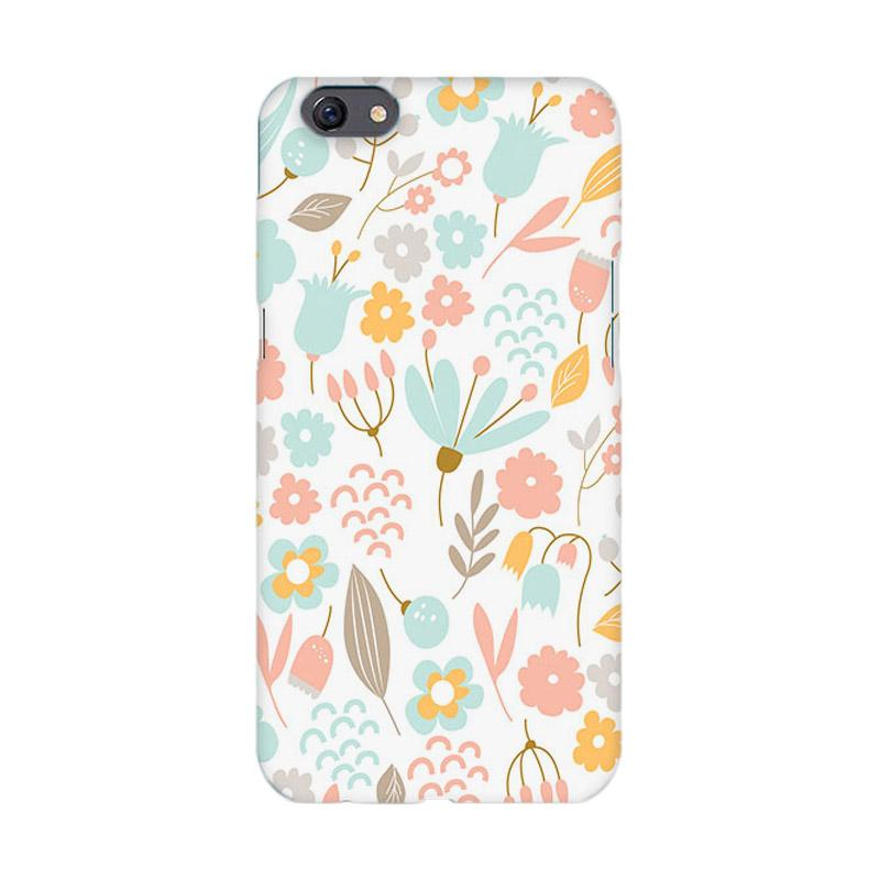 Premiumcaseid Cute Pastel Shabby Chic Floral Cover Hardcase Casing for Oppo F3 Plus or Oppo R9s Plus