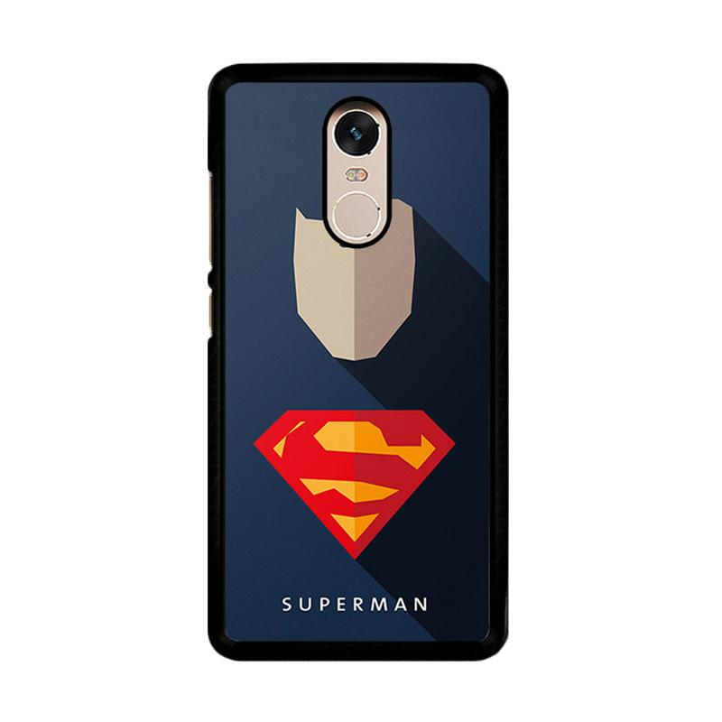 Flazzstore Superhero Superman O0247 Custom Casing for Xiaomi Redmi Note 4 or Note 4X Snapdragon Mediatek