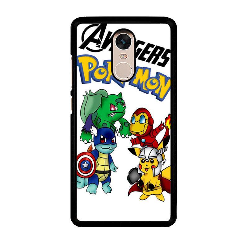 Flazzstore Pokemon Avengers Z0036 Custom Casing for Xiaomi Redmi Note 4 or Note 4X Snapdragon Mediatek
