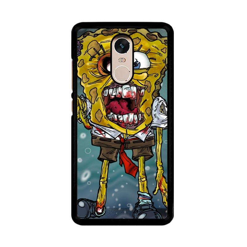 Flazzstore Zombie Sponge Bob Z0217 Custom Casing for Xiaomi Redmi Note 4 or Note 4X Snapdragon Mediatek