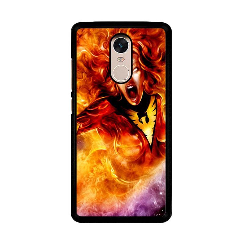 Flazzstore Dark Phoenix Z0250 Custom Casing for Xiaomi Redmi Note 4 or Note 4X Snapdragon Mediatek