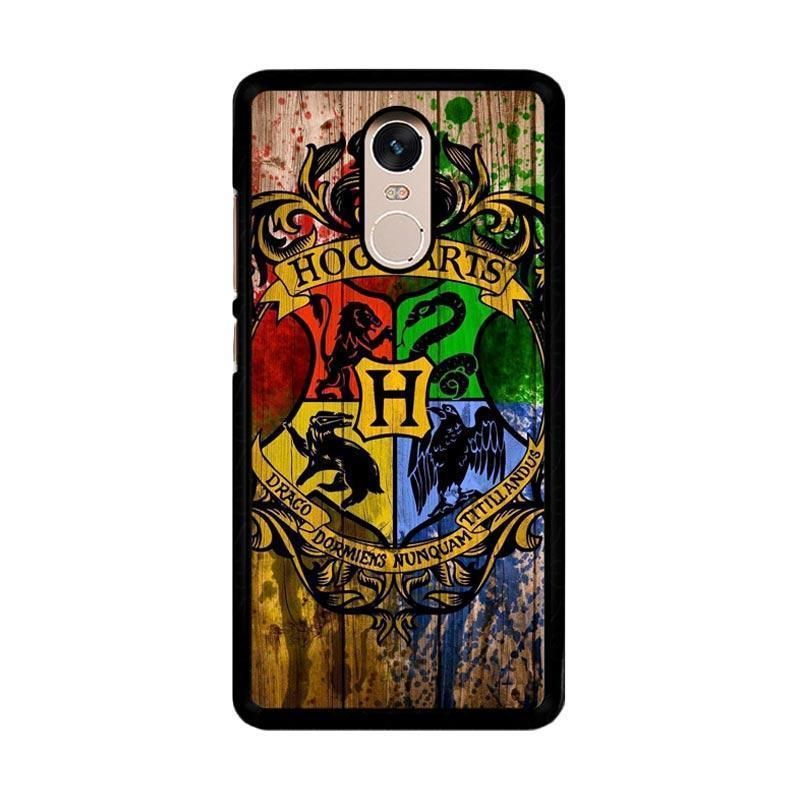 Flazzstore Harry Potter Hogwarts Logo Wood Z0295 Custom Casing for Xiaomi Redmi Note 4 or Note 4X Snapdragon Mediatek