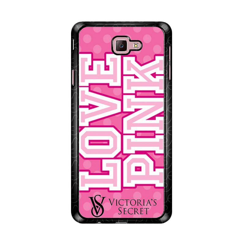 Flazzstore Love Pink Victoria Secret Z3971 Custom Casing for Samsung Galaxy J7 Prime