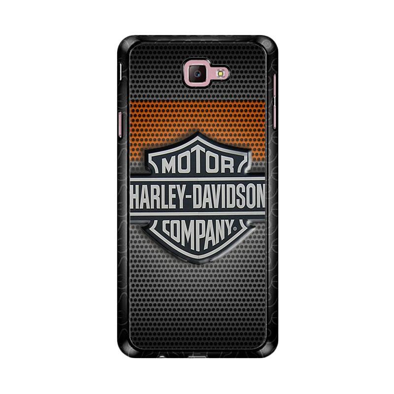 Flazzstore Motor Harley Davidson Logo Z4053 Custom Casing for Samsung Galaxy J7 Prime