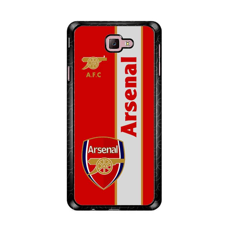 Flazzstore Arsenal Logo Red Z4340 Custom Casing for Samsung Galaxy J7 Prime