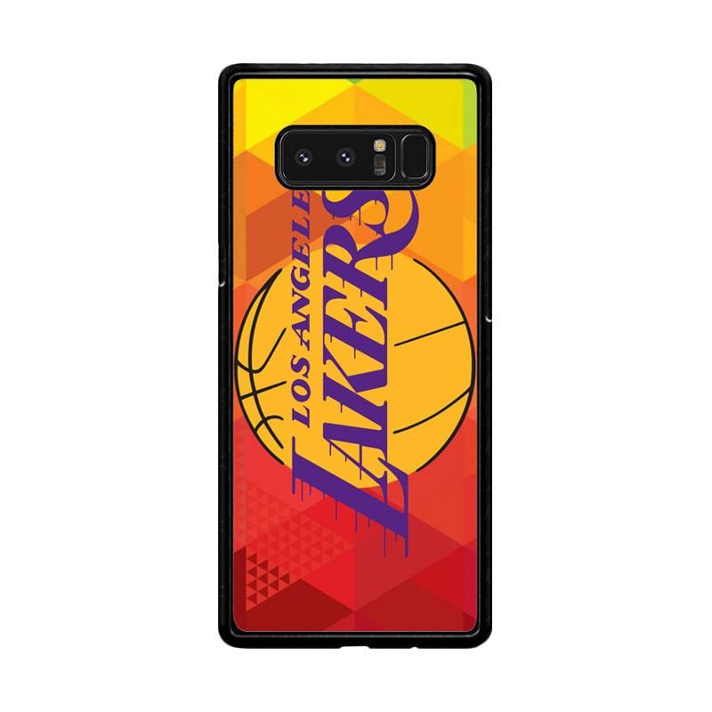 Flazzstore La Lakers Basketball Team Logo Z2991 Custom Casing for Samsung Galaxy Note8