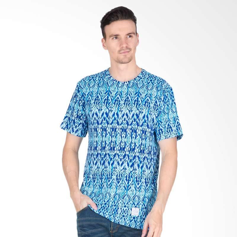 Tendencies Ethnic T-shirt Pria - Blue