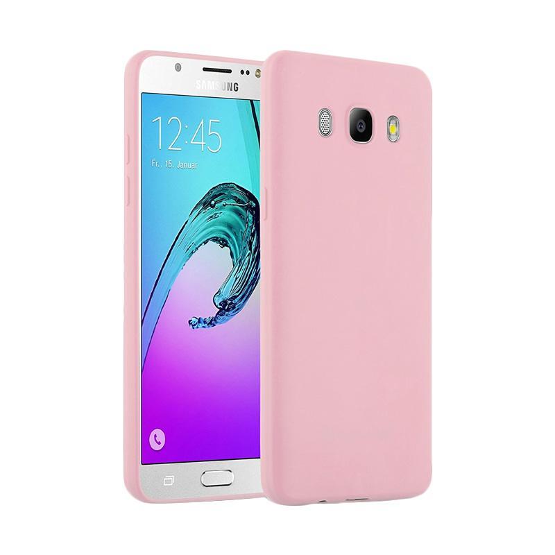Lize Design Case Slim Anti Glare Silikon Casing for Samsung Galaxy J7 2016 J710 - Pink