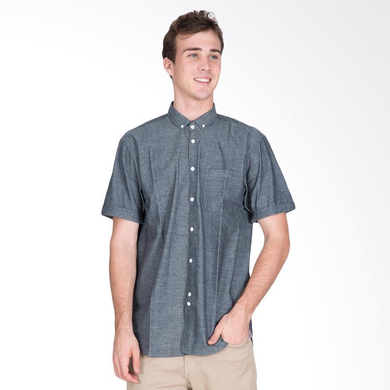 Tendencies Chambray Shirt Atasan Pria - Dark Blue