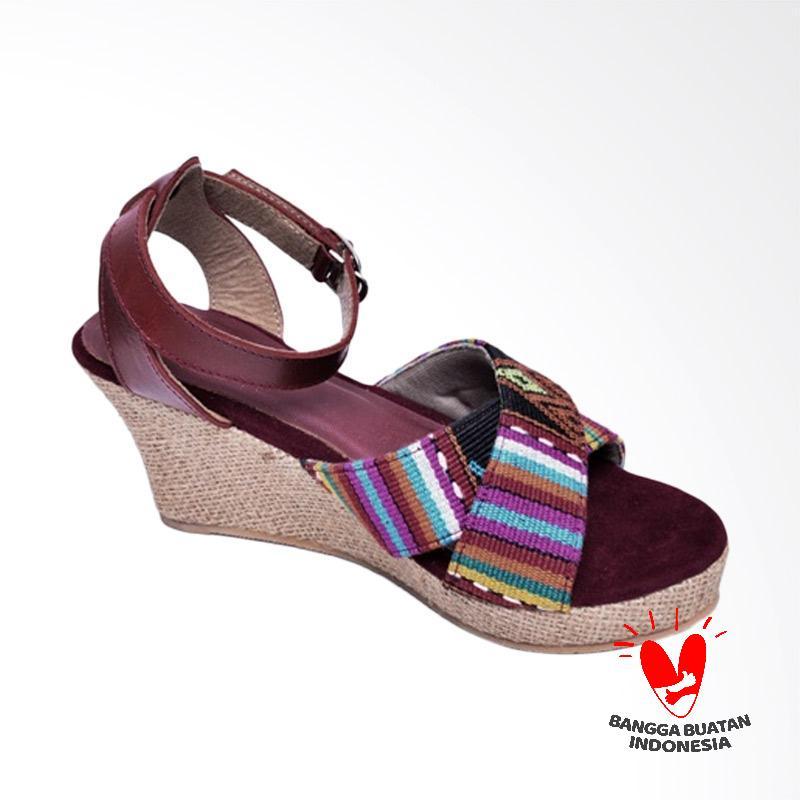 harga DAT W03 Amanuban Sandal Wedges Wanita - Red Blibli.com