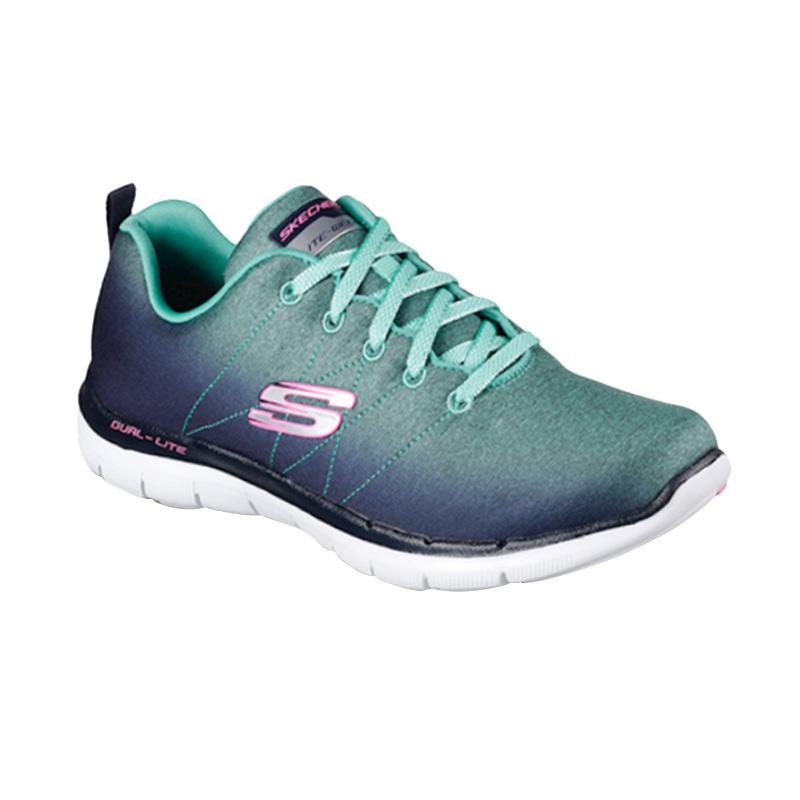 Skechers Sports Flex Appeal W Sepatu Lari Wanita - Navy Tosca [12763NVAQ]
