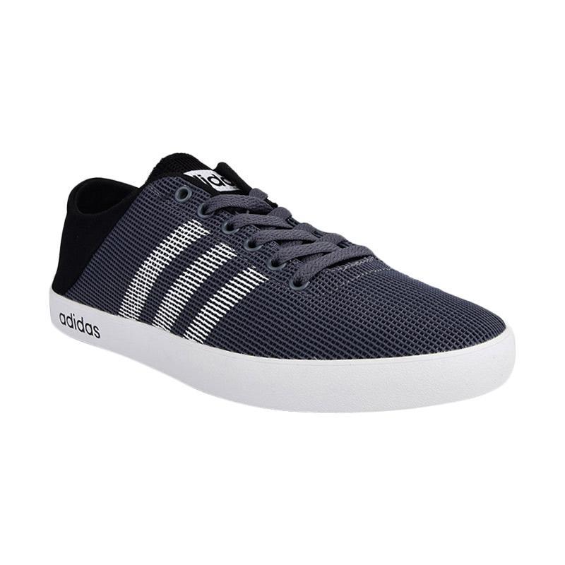 harga adidas VS Easy Vulc Shoes Cassual Men Sepatu Olahraga Pria -  Grey Black [B74523] Blibli.com