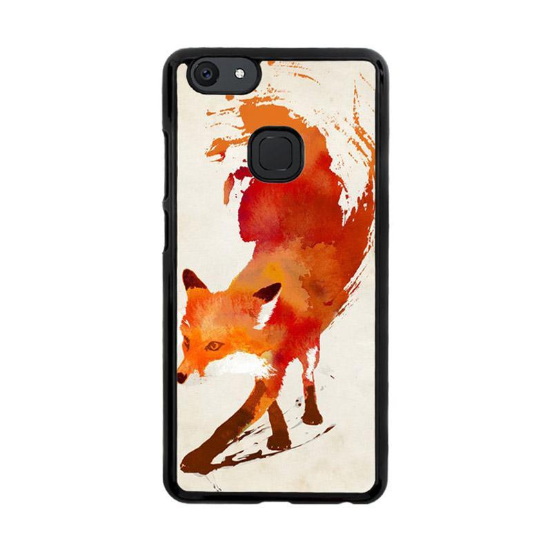 Flazzstore Watercolor Art Orange Red Fox Animal F0246 Custom Casing for Vivo V7