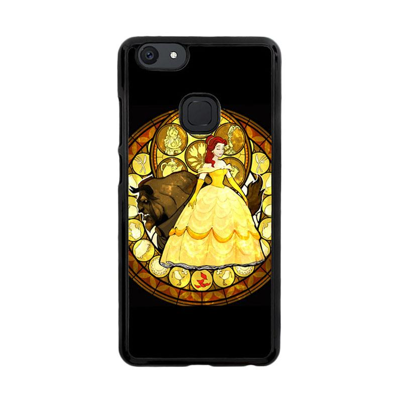 Flazzstore Beauty And The Beast Stained Glass Z1422 Custom Casing for Vivo V7