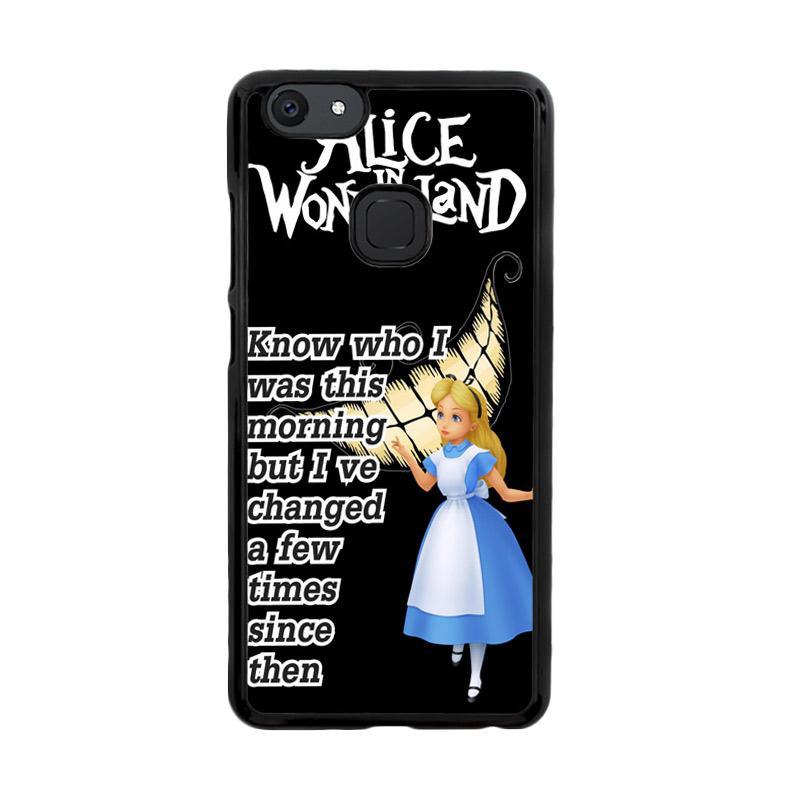 Flazzstore Alice In Wonderland Quote D0296 Custom Casing for Vivo V7