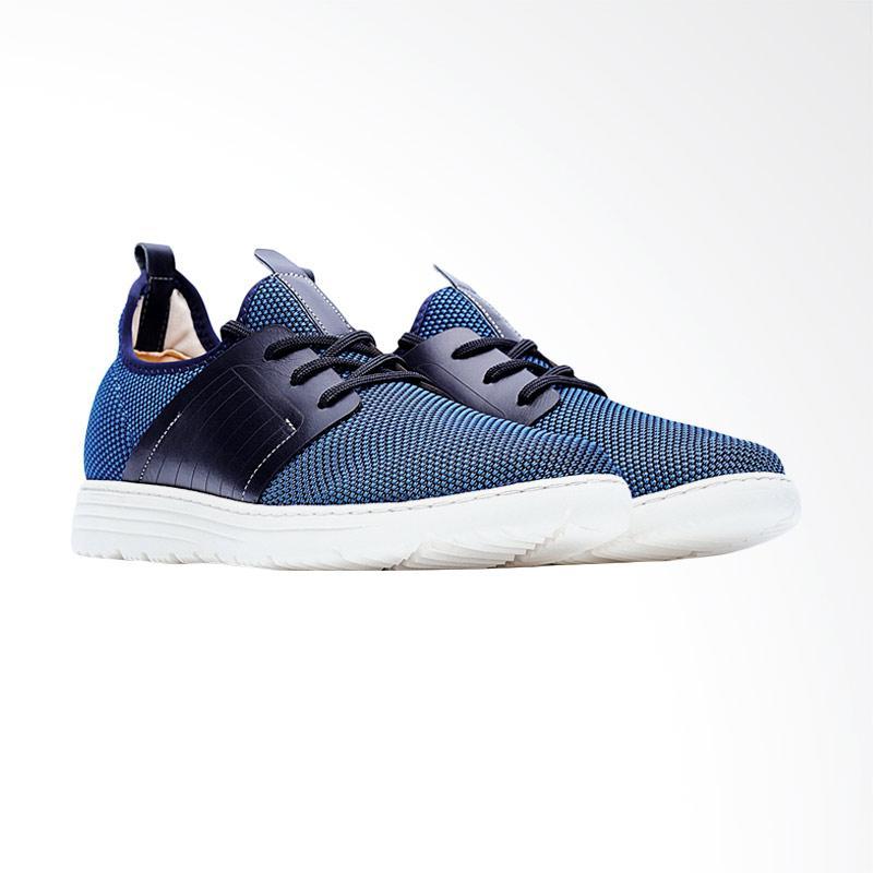 harga Life8 Lightweight Elastic Knit Casual Shoes Sepatu Pria - Blue [09246] Blibli.com