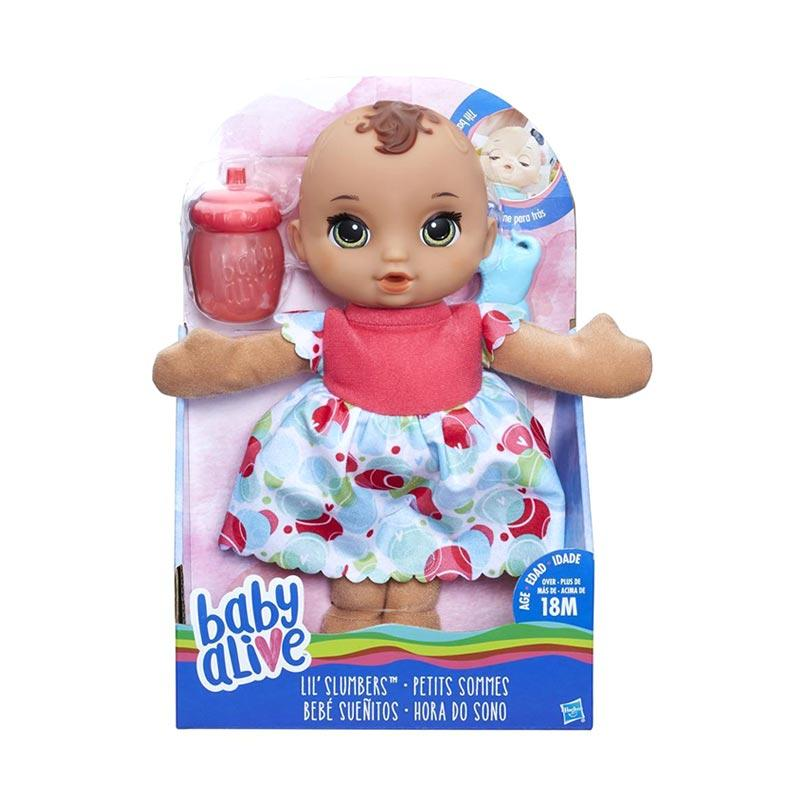 harga Baby Alive B9721 Lil Slumbers Brunette Doll Mainan Anak Blibli.com