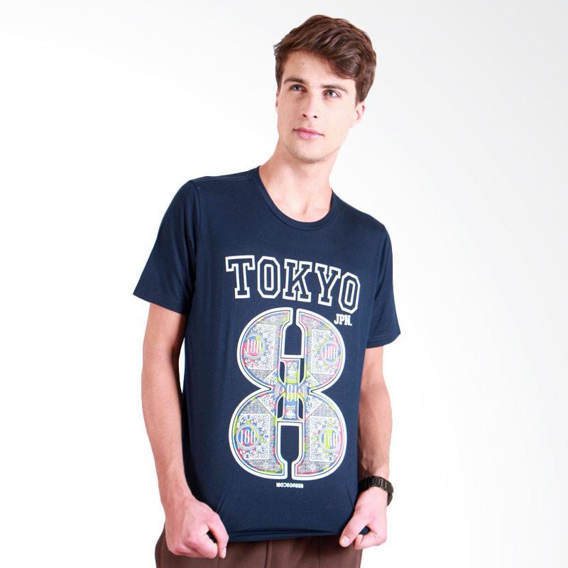 180 Degrees Tokyo 8 T-Shirt Pria - Navy