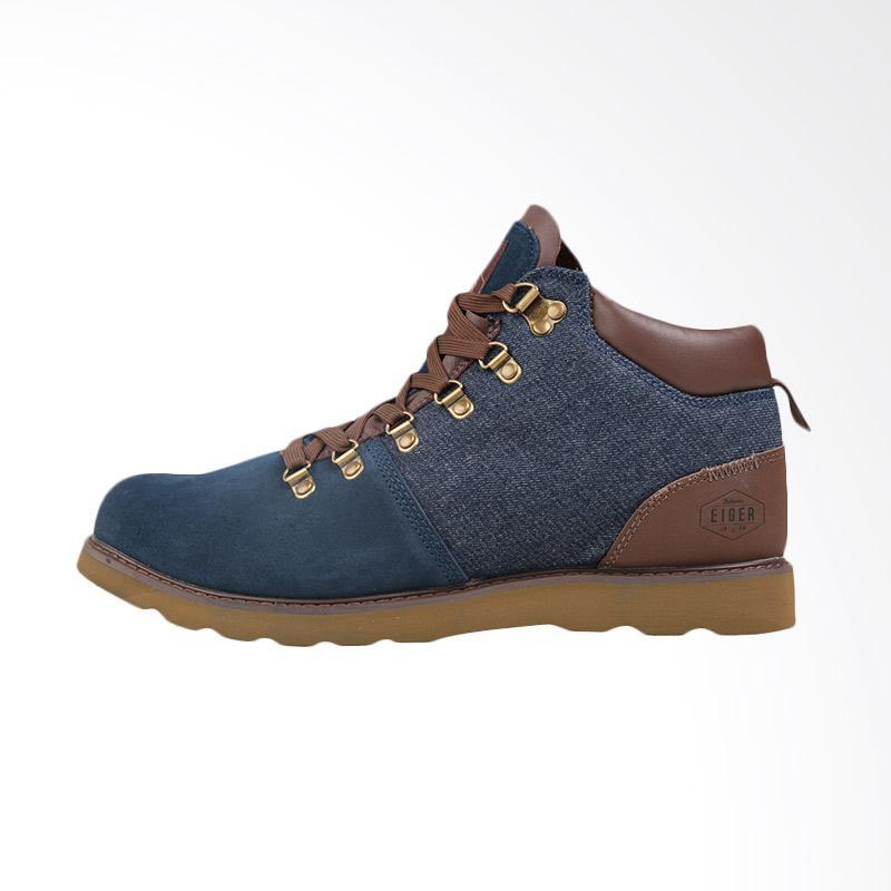 harga Eiger Navajo Mid Cut Shoes Sepatu Pria - Navy [1989] Blibli.com