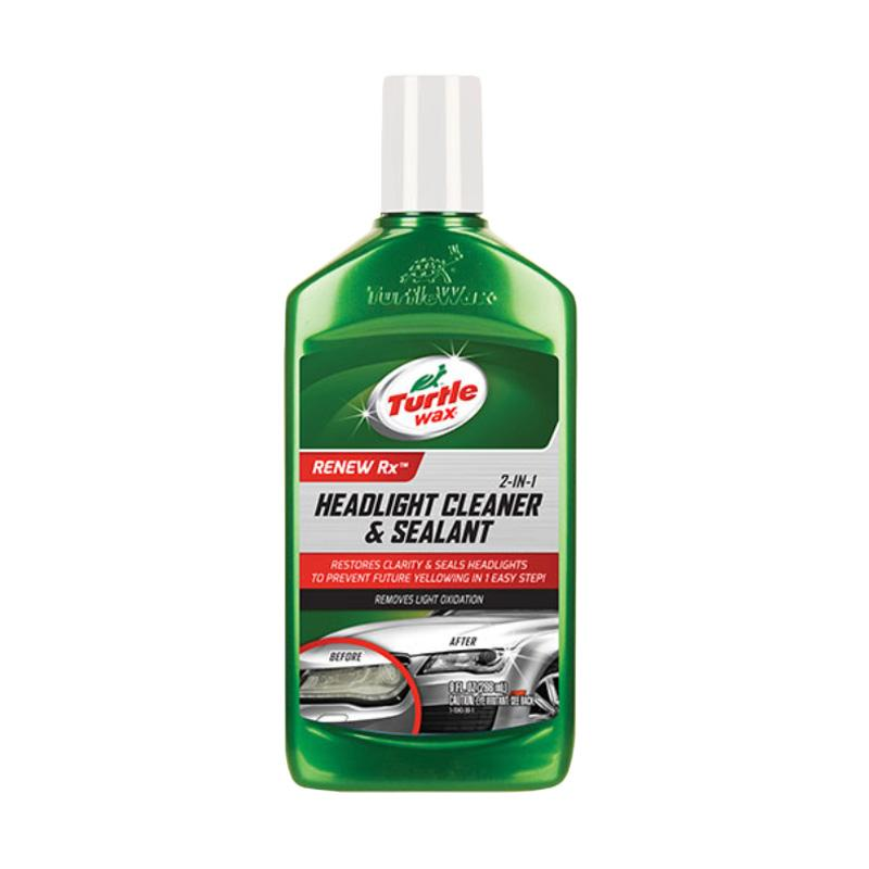 Turtle Wax Renew Rx 2 in 1 Headlight Cleaner & Sealant [266 mL] MADE IN USA - Cairan Pembersih Mika Kaca Akrilik Lampu Mobil & PENGHILANG NODA KUNING