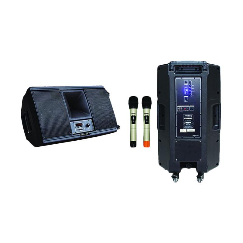 harga Krezt WAS-208 Portable Wireless PA Amplifier Bluetooth Portable Speaker Blibli.com