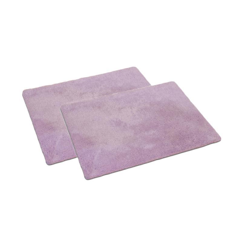 ENJOY101 Super Thin Non-slip Antibacterial Bath Mat - Purple [Pack of 2]