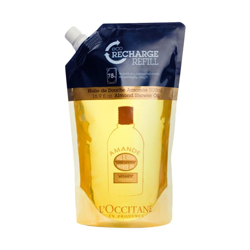 L Occitane Almond Moisturizing Shower Oil Eco Refill 500 mL