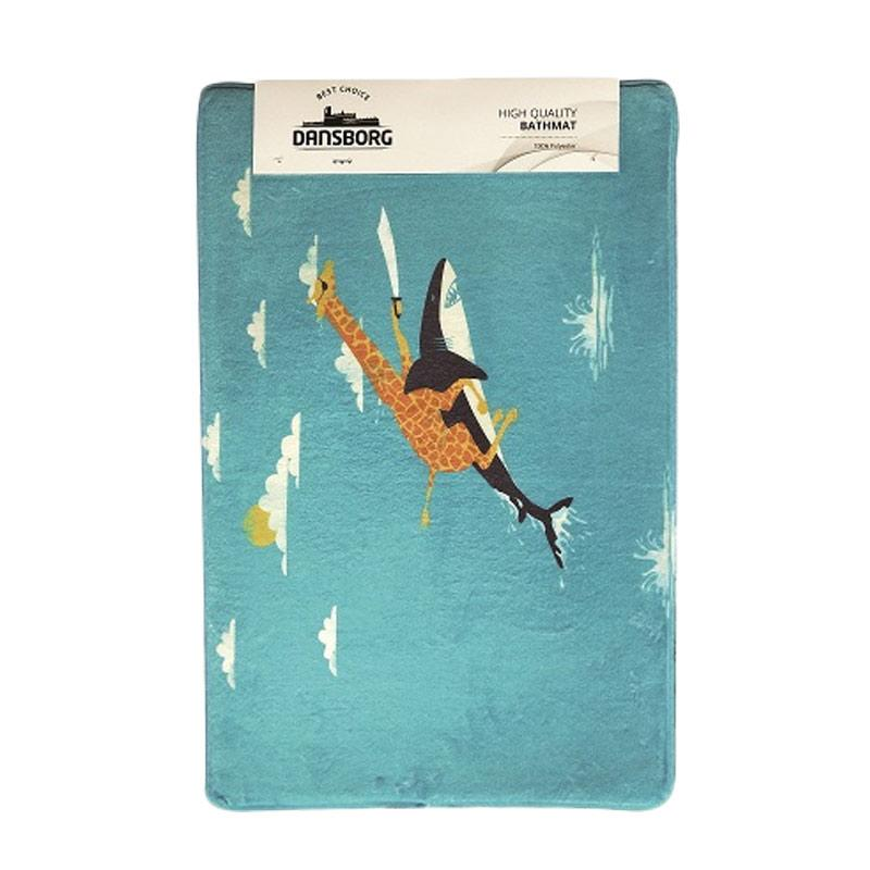JYSK Flying Shark Bathmat Keset - Blue [40 x 60 cm]