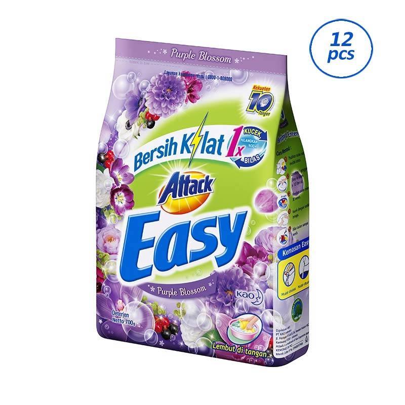 ATTACK Easy Purple Blossom Detergent [700 g/12 pcs]