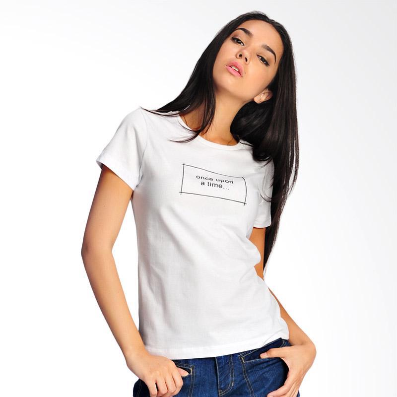 SJO & SIMPAPLY Once Upon A Time T-Shirt Wanita - White
