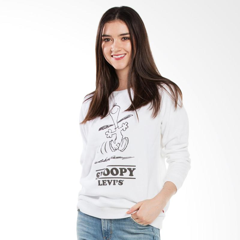 Levi's 29717-0015 Relaxed Crew Sweatshirt Atasan Wanita - Snoopy White