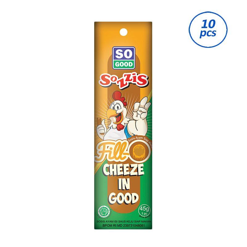So Good Sozzis Fill'O Saus Keju Makanan Instan [45 g/ 10 pcs]