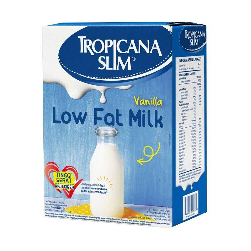 harga Tropicana Slim Vanilla Susu Low Fat [500 g] Blibli.com