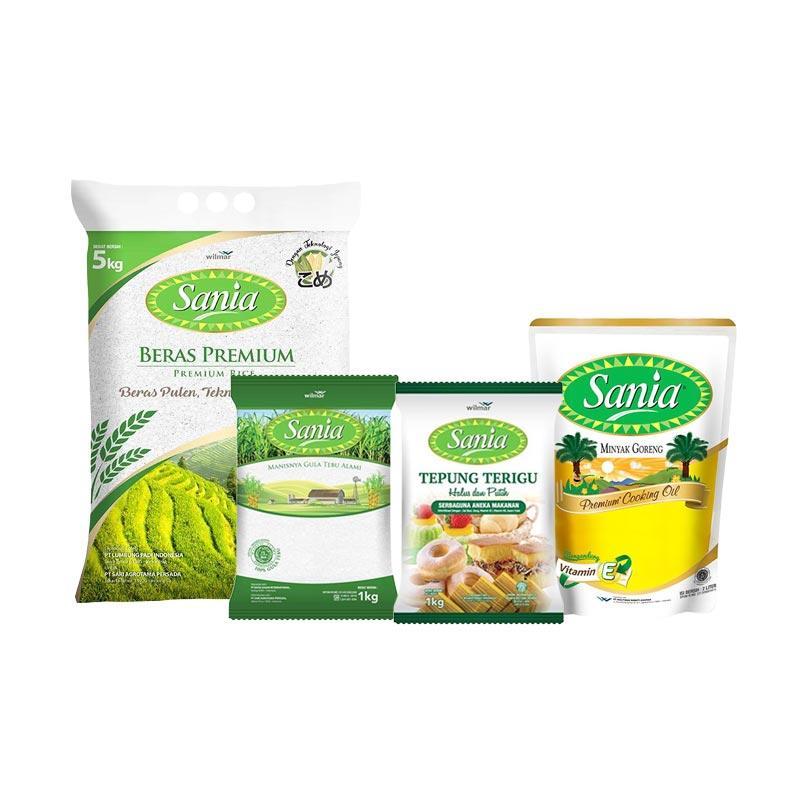 Blibli.com Paket Sembako 12 - Sania Minyak [2 L] + Sania Beras [5 kg] + Sania Tepung [1 kg] + Sania Gula [1 kg]